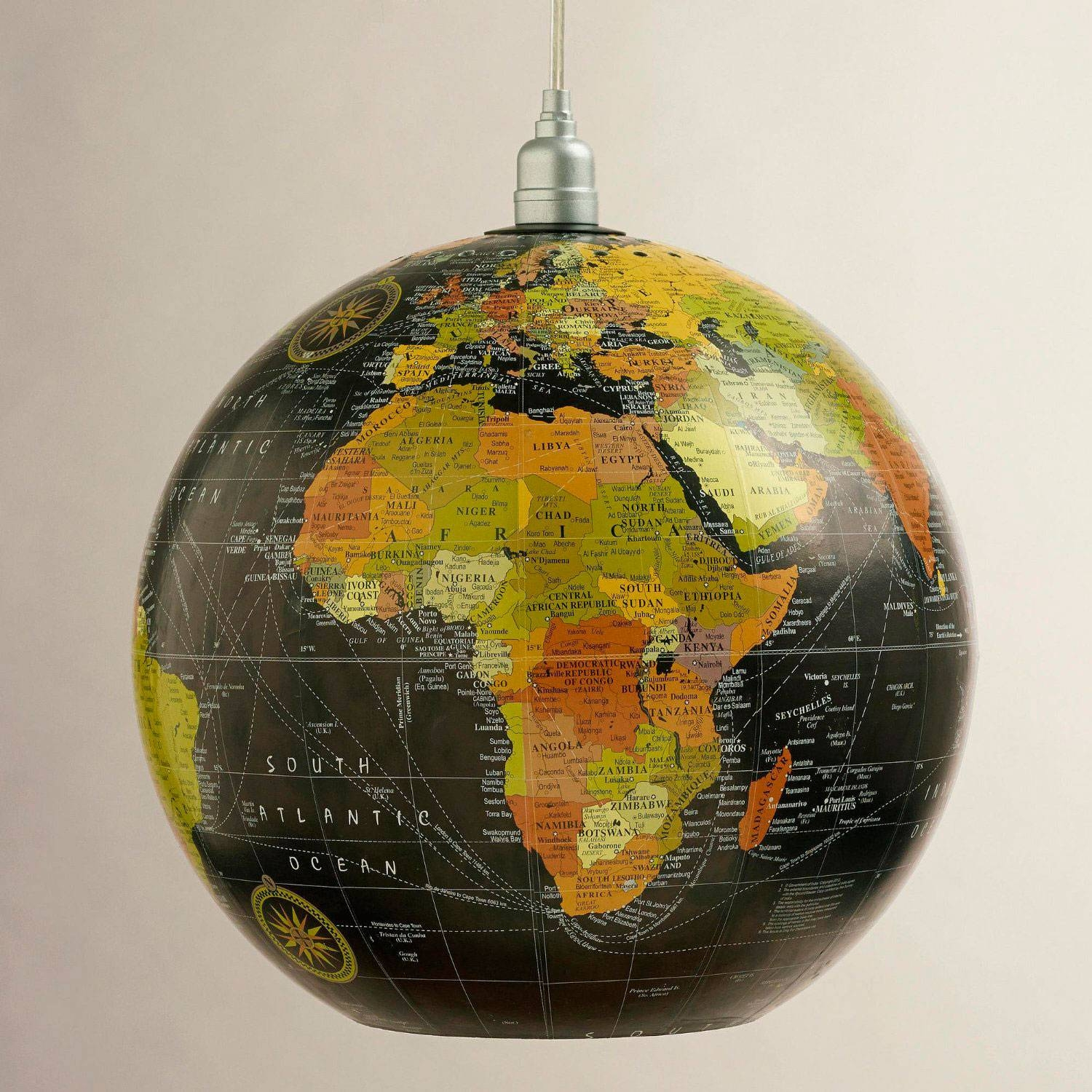 12-Inch Globe Hanging Pendant Lamp From World Market intended for World Globe Pendant Lights (Image 1 of 15)