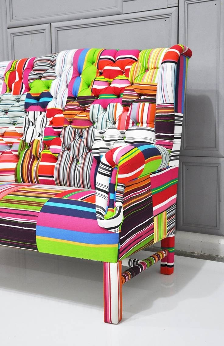 122 Best Mixed Fabric Couches Images On Pinterest | Home, Chairs With Regard To Colorful Sofas And Chairs (View 1 of 15)