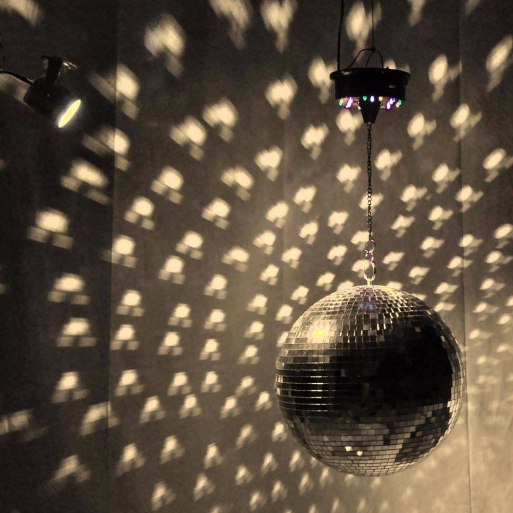 12″ Mirror Disco Ball Kit | Multiple Colors Available | The Pole regarding Disco Ball Ceiling Lights Fixtures (Image 2 of 15)