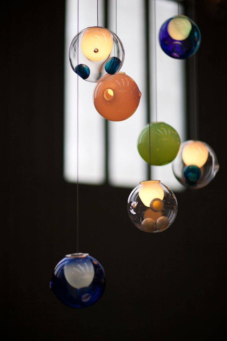 15 Best Bocci Lighting Images On Pinterest | Chandeliers, Pendant regarding Coloured Glass Pendants (Image 1 of 15)