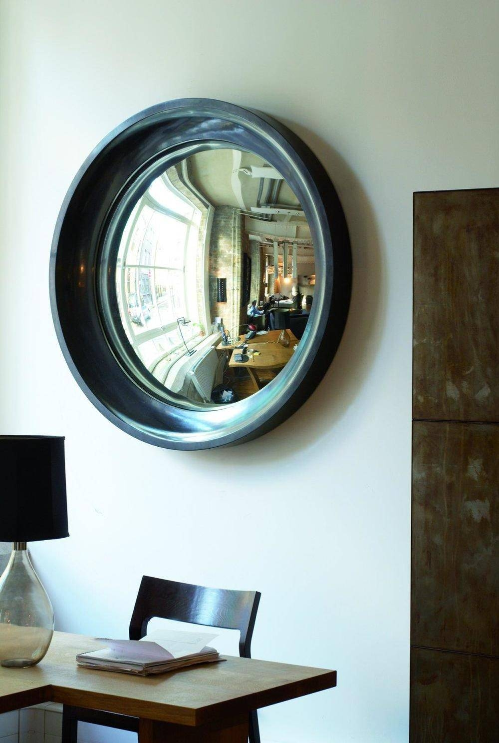 15 Interiors Turned Abstract Wall Arta Convex Mirror — Designed in Curved Mirrors (Image 4 of 15)