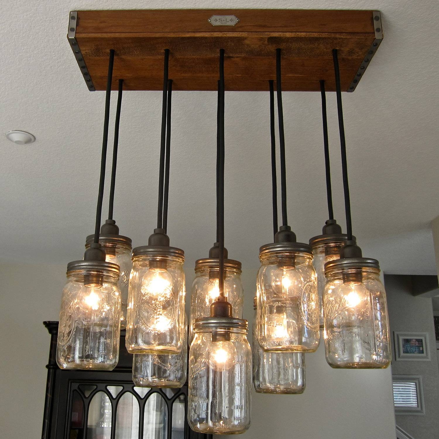 18 Diy Mason Jar Chandelier Ideas | Guide Patterns with regard to Mason Jar Pendant Lights For Sale (Image 1 of 15)