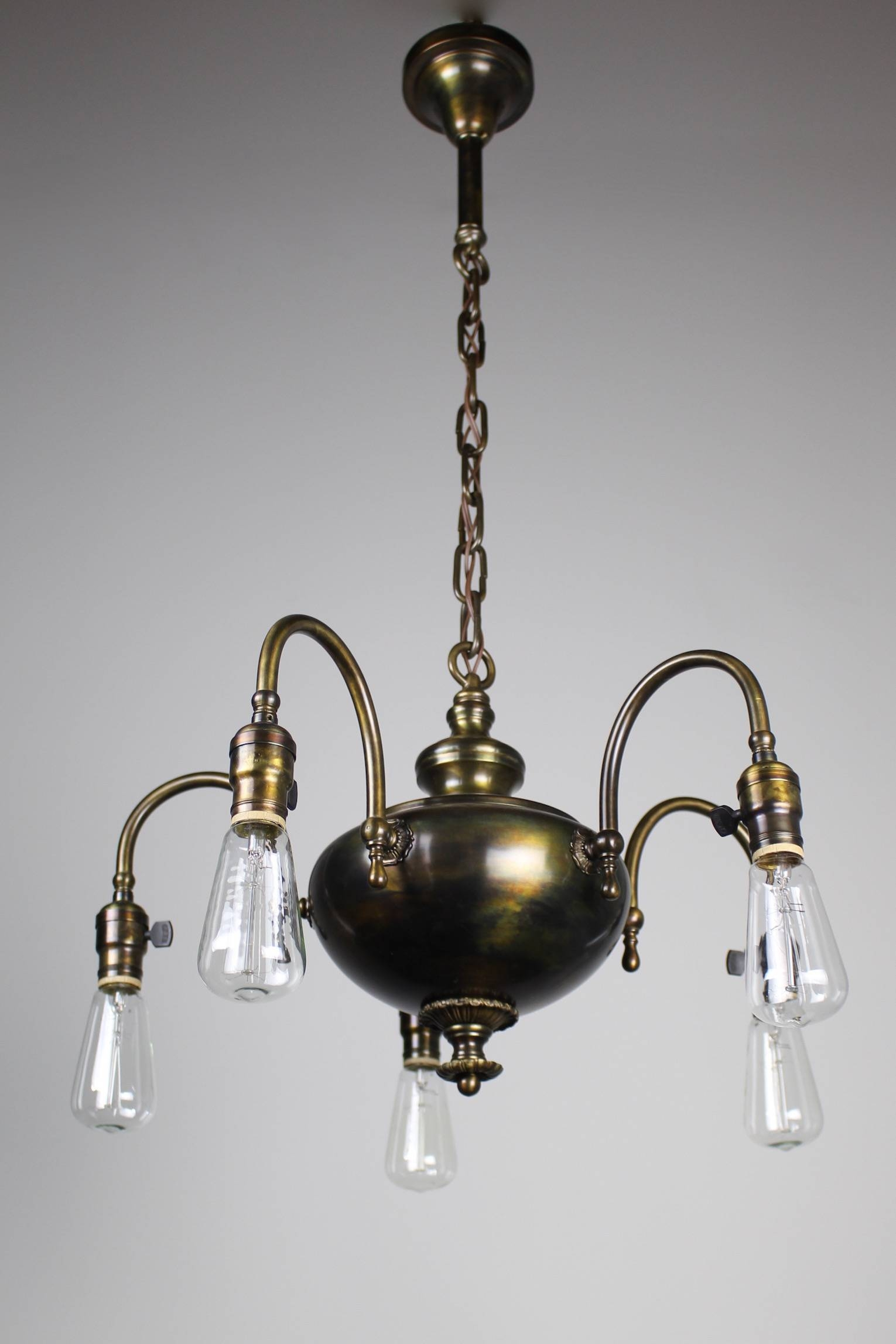 1920S Arts & Crafts Fixture, 5-Light | with Arts And Crafts Pendant Lighting (Image 1 of 15)