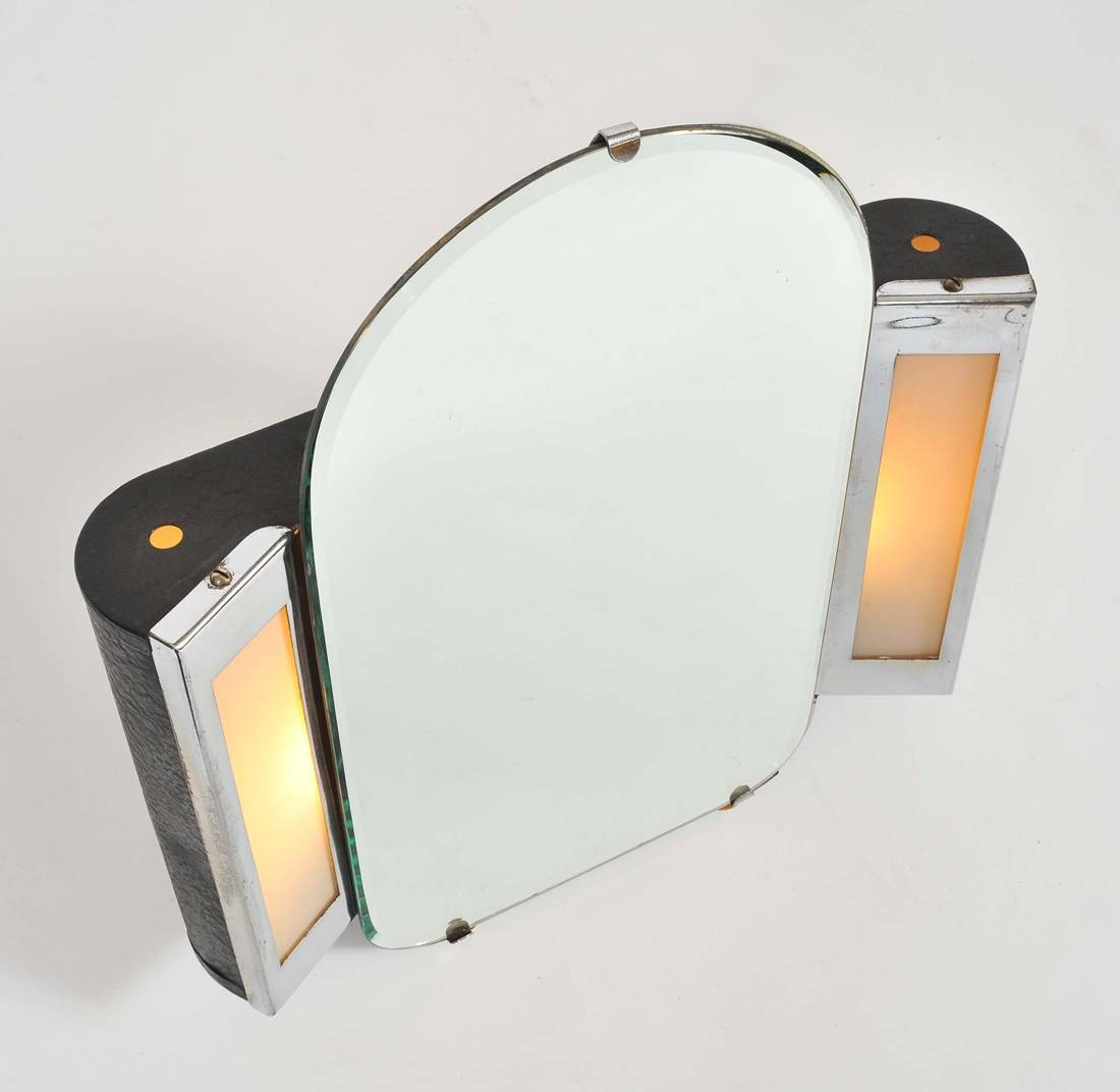 1930S Us Art Deco Illuminated Dressing-Table Mirror | Valerie Wade in Art Deco Dressing Table Mirrors (Image 1 of 15)