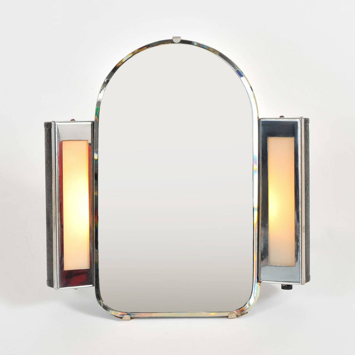 1930S Us Art Deco Illuminated Dressing-Table Mirror | Valerie Wade with Art Deco Dressing Table Mirrors (Image 2 of 15)