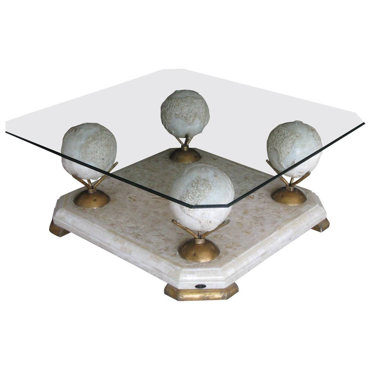 1960S Marble And Glass Coffee Tablefournier, Paris For Sale At throughout Marble And Glass Coffee Table (Image 1 of 15)