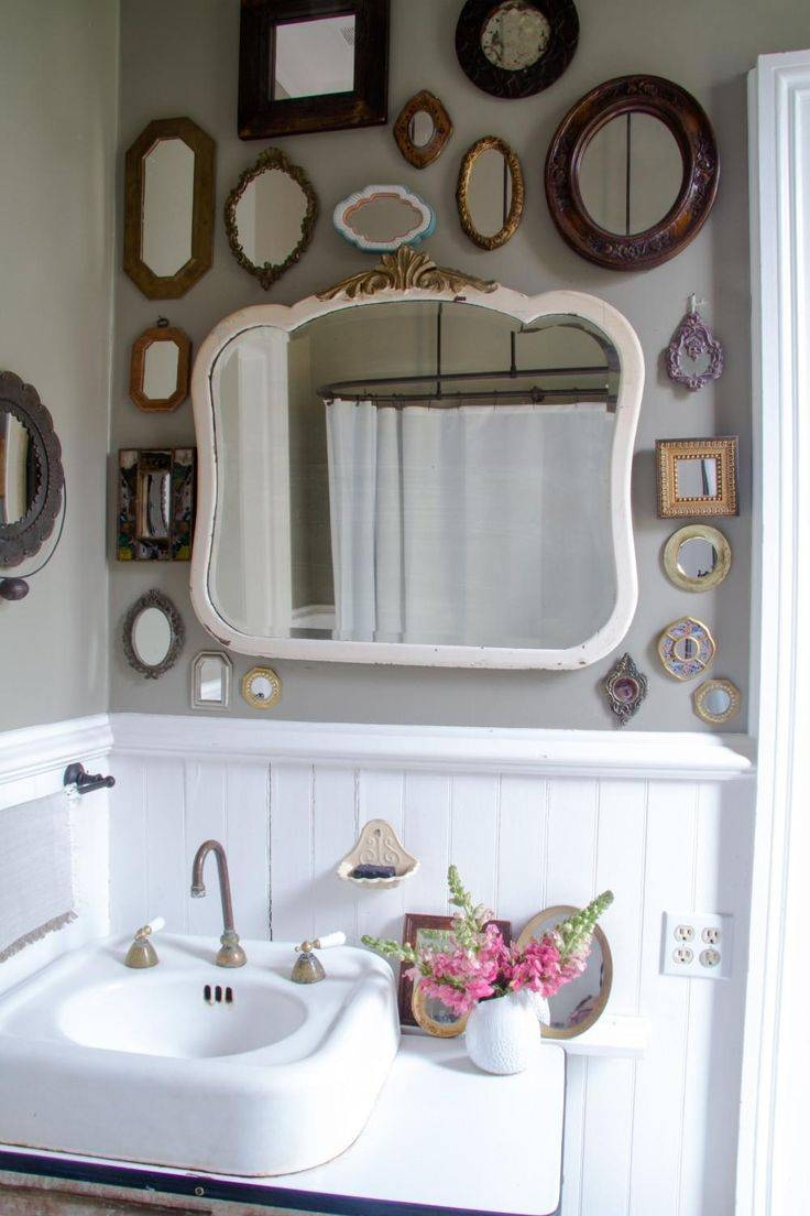 2010 Best ♨Bathroom Images On Pinterest | Room, Bathroom And throughout Old Fashioned Wall Mirrors (Image 1 of 15)