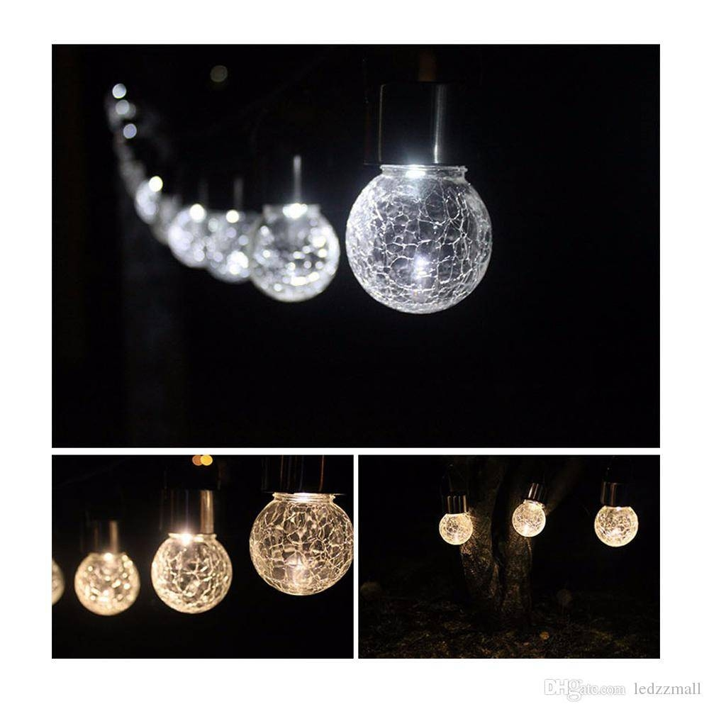 2017 Glass Crack Light Ip65 Hang Lamps Solar Lights Glass Crackle Inside Cracked Glass Pendant Lights (View 1 of 15)