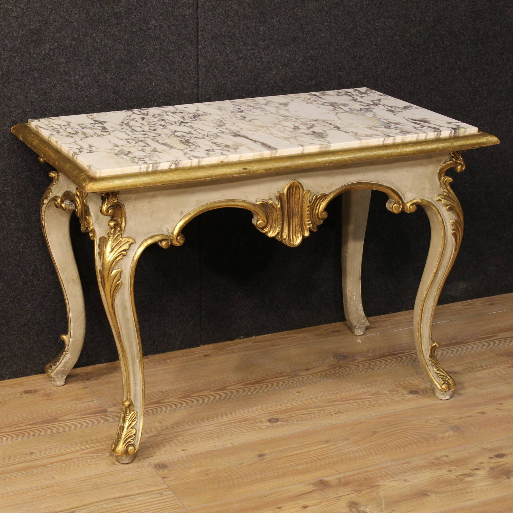 20Th Century Italian Coffee Table In Lacquered And Gilded Wood (C throughout Italian Coffee Tables (Image 1 of 15)