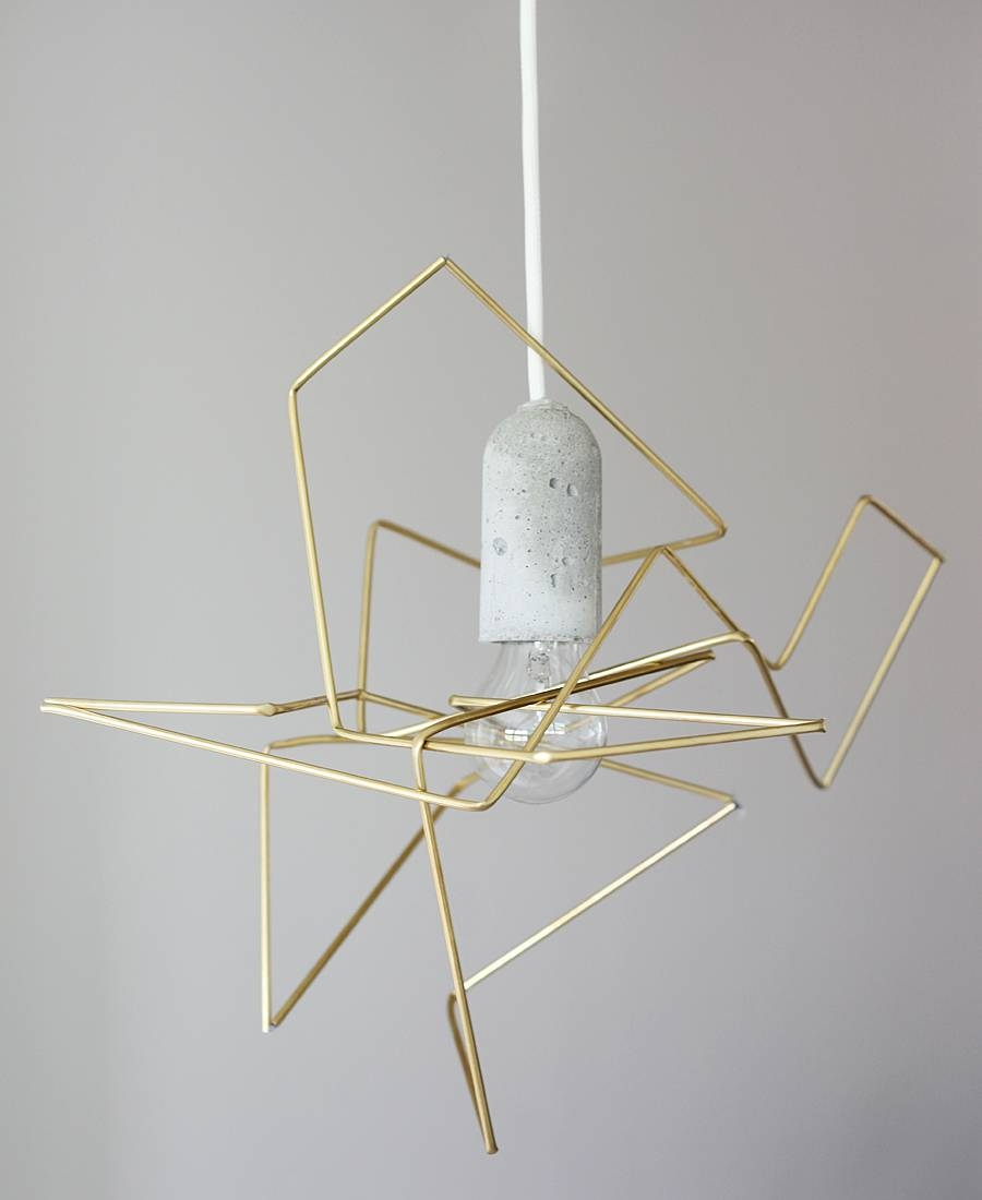 21 Modern Diy Light Fixtures | Glitter & Goat Cheese for Dodecahedron Pendant Lights (Image 4 of 15)