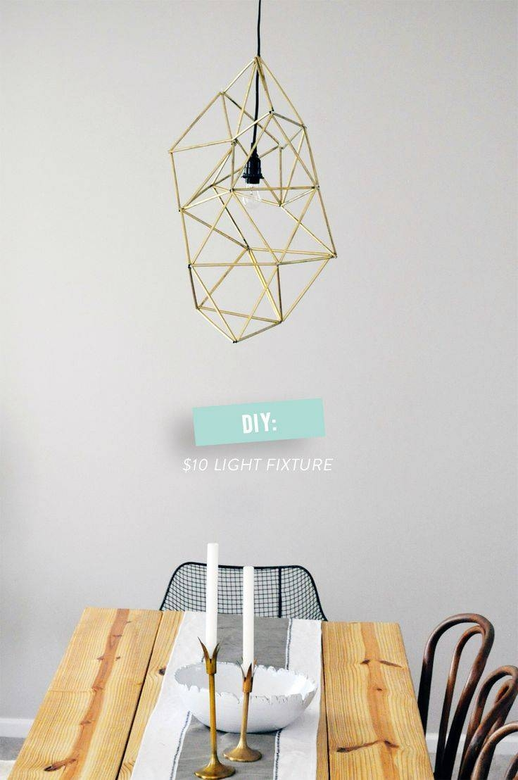 21 Modern Diy Light Fixtures | Glitter & Goat Cheese inside Dodecahedron Pendant Lights (Image 5 of 15)