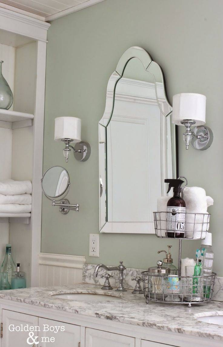 213 Best Bathrooms Images On Pinterest Bathroom Ideas Room And With Arched Mirrors