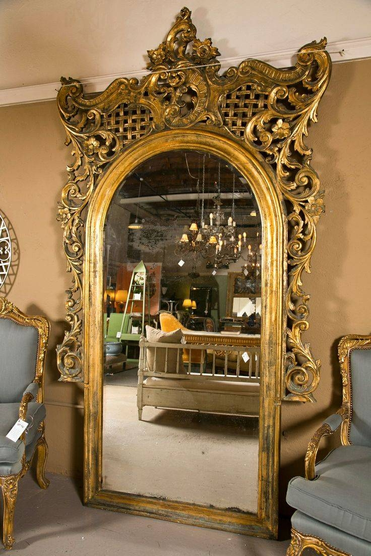 235 Best Reflections In The Mirror Images On Pinterest   Mirror Intended For Rococo Floor Mirrors (View 2 of 15)