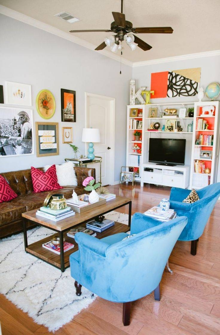25+ Best Eclectic Living Room Ideas On Pinterest | Dark Blue Walls In Colorful Sofas And Chairs (View 2 of 15)