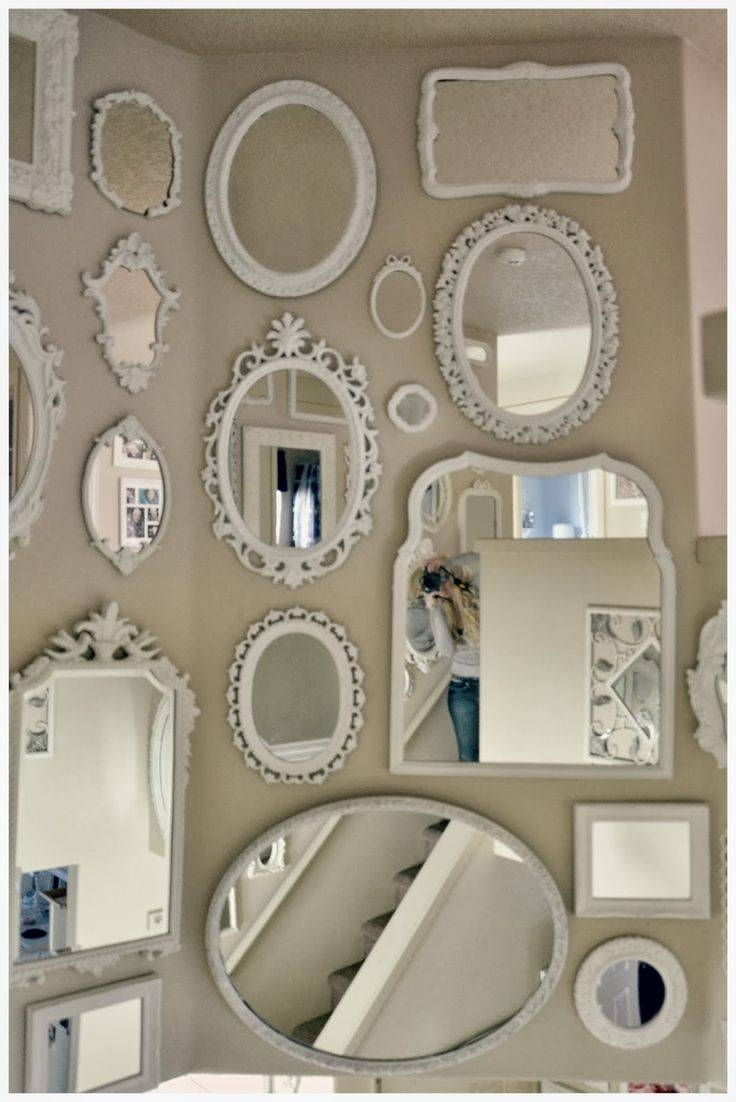 25+ Best Painted Mirror Frames Ideas On Pinterest | Painting A Throughout Chic Mirrors (View 1 of 15)
