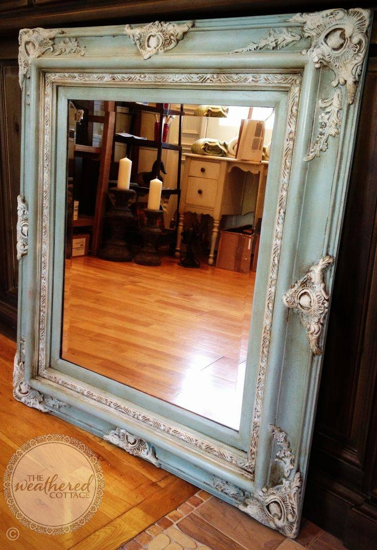 25+ Best Painted Mirror Frames Ideas On Pinterest | Painting A within Large Gold Antique Mirrors (Image 2 of 15)