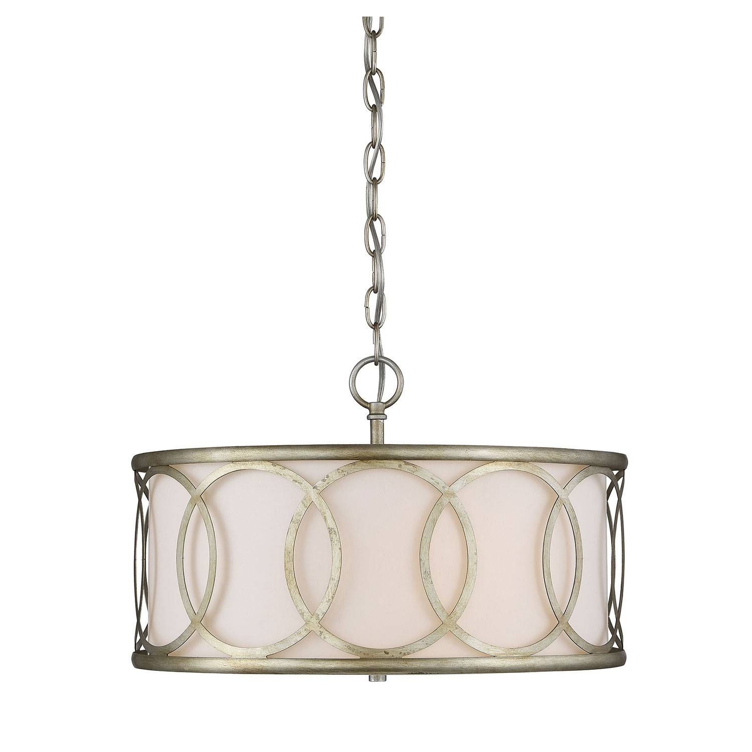 251 First Linden Argentum Three Light Drum Pendant On Sale throughout Drum Pendant Lighting (Image 1 of 15)