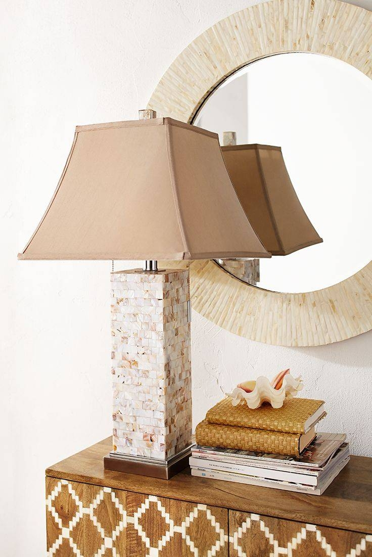27 Best Lighting Images On Pinterest | Table Lamps, Décor Ideas intended for Shell Lights Shades (Image 1 of 15)