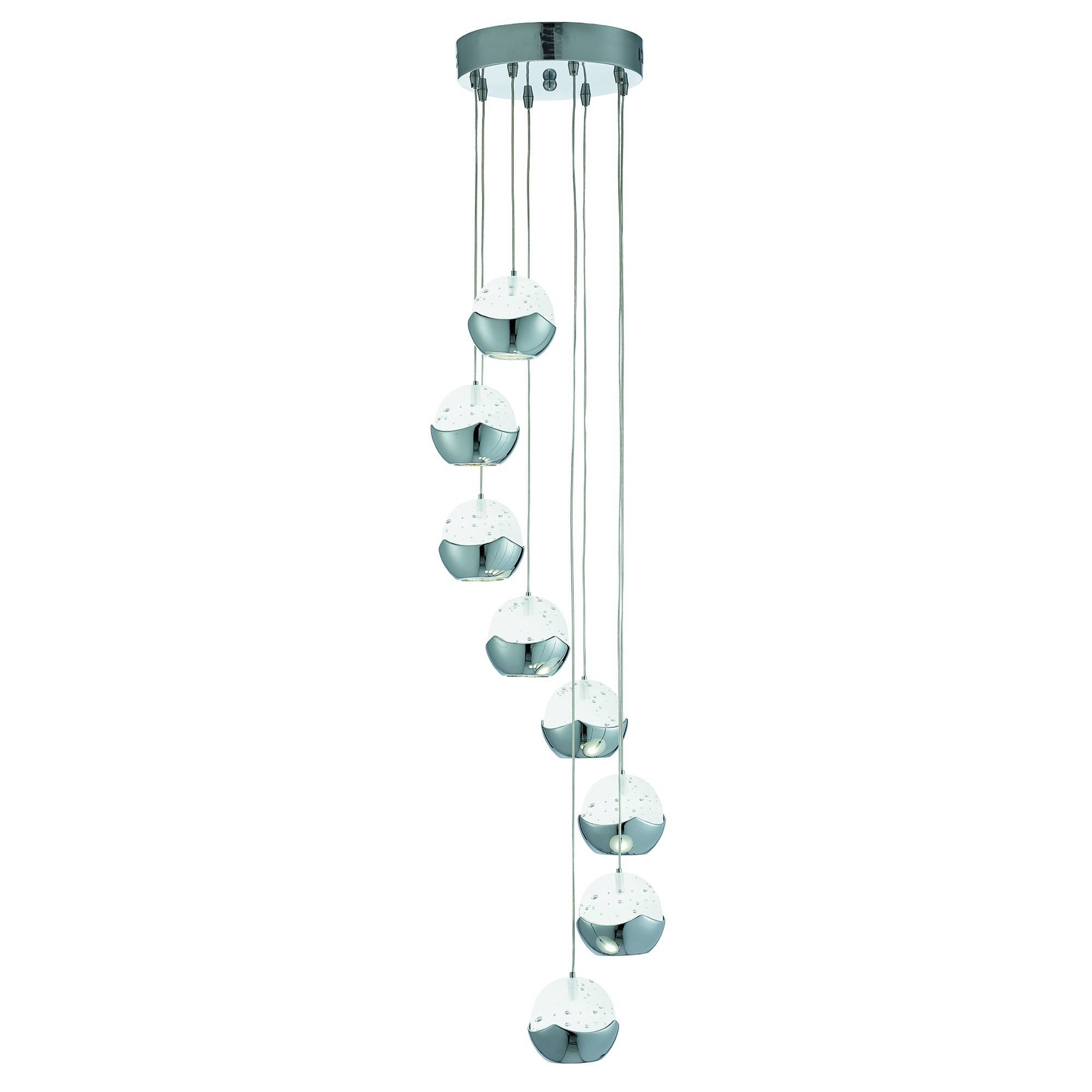 28+ [ Glass 8 Light Pendant ] | 6111Ch Prisma 8 Light Pendant In in Paxton Glass 8 Light Pendants (Image 1 of 15)