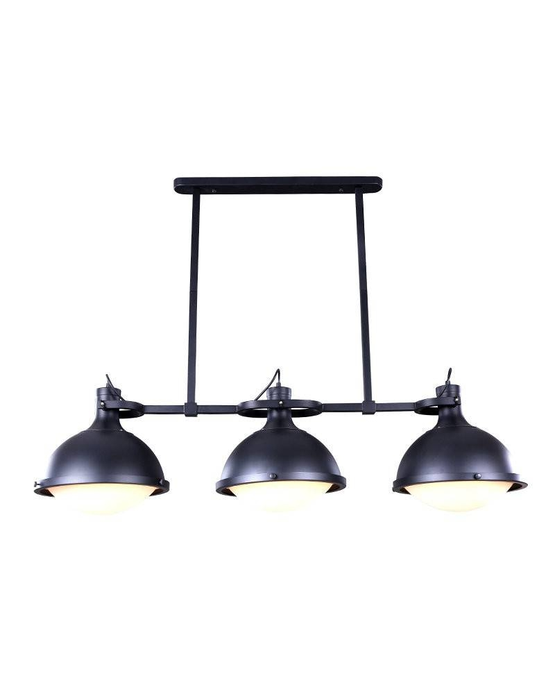 3 Lights Vintage Industrial Style Island Light With Iron Holder pertaining to Industrial Style Pendant Light Fixtures (Image 1 of 15)