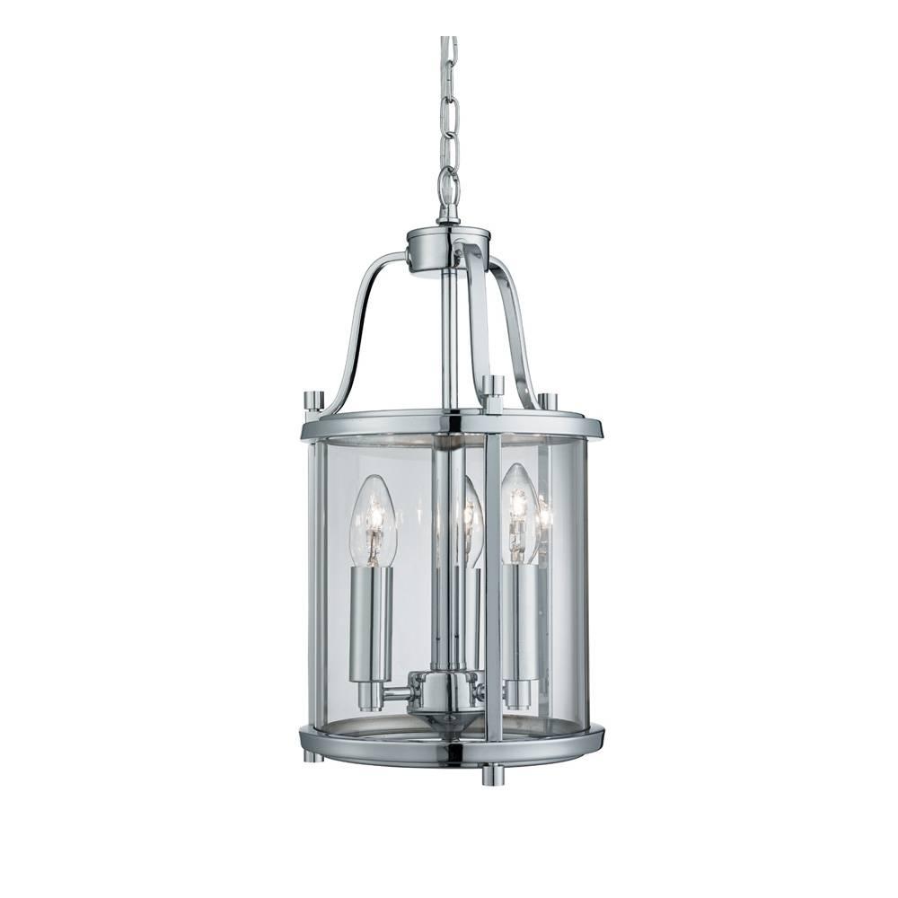 3063 3Cc 3 Light Chrome Victorian Lantern Pendant In Victorian Pendant Lights (Photo 9 of 15)