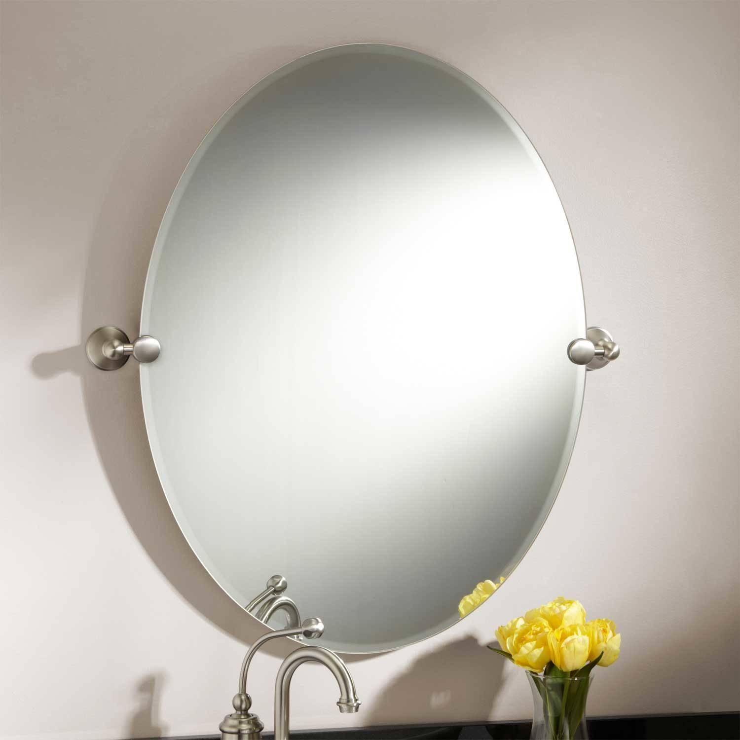 "31"" Seattle Oval Tilting Mirror - Bathroom for Oval Cream Mirrors (Image 1 of 15)"