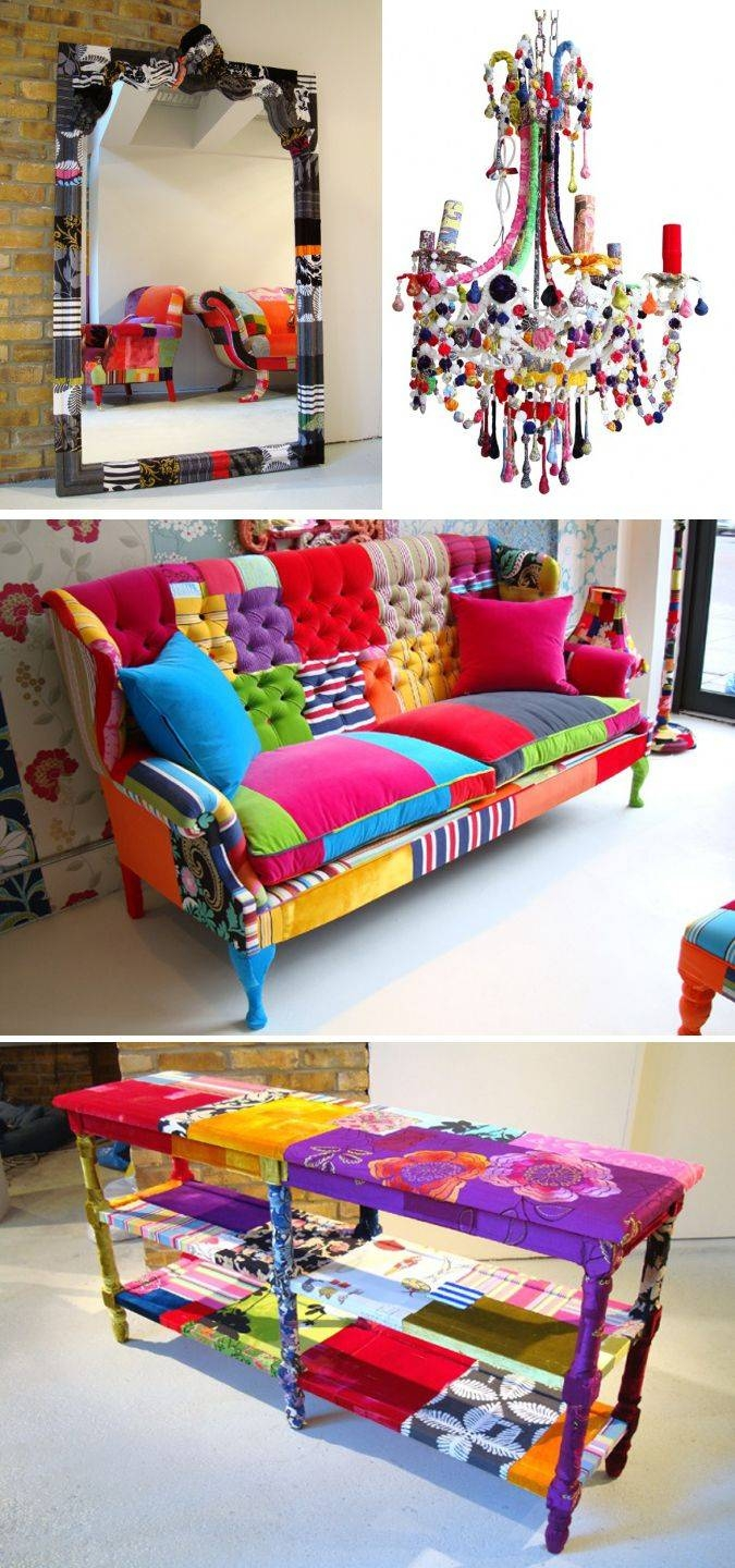 319 Best Patchwork Furniture Images On Pinterest | Patchwork Chair Within Colorful Sofas And Chairs (Photo 12 of 15)