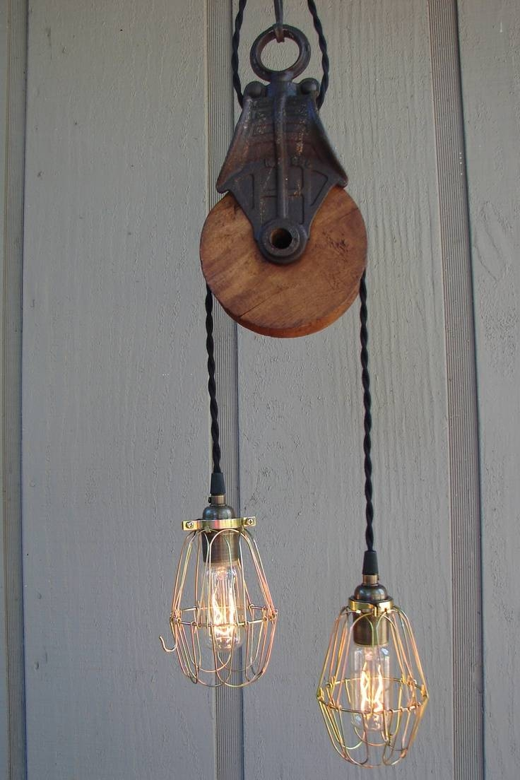 32 Best Lighting Images On Pinterest | Lighting Ideas, Insulator Pertaining To Pulley Lights Fixtures (Photo 14 of 15)