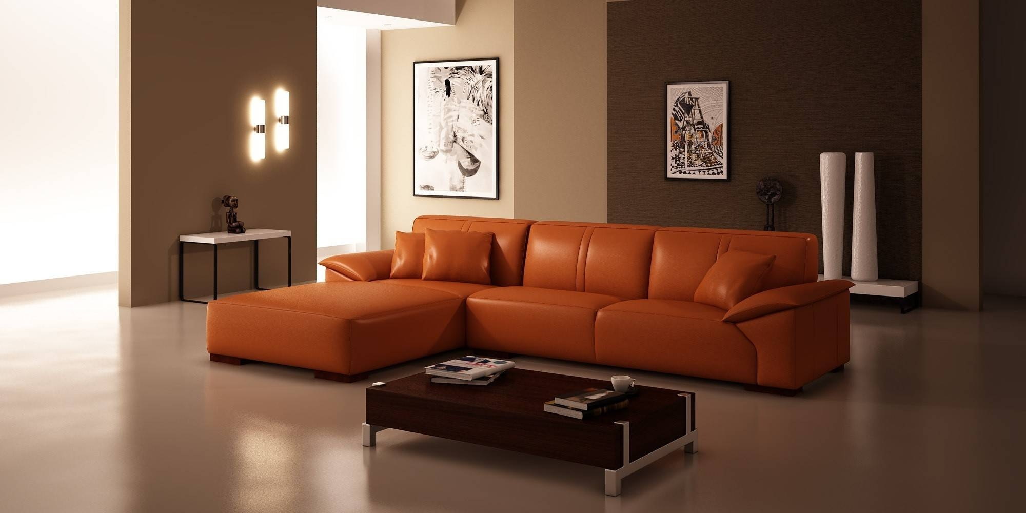 32 Things You Need To Know About Contemporary Living Room within Orange Sofa Chairs (Image 2 of 15)