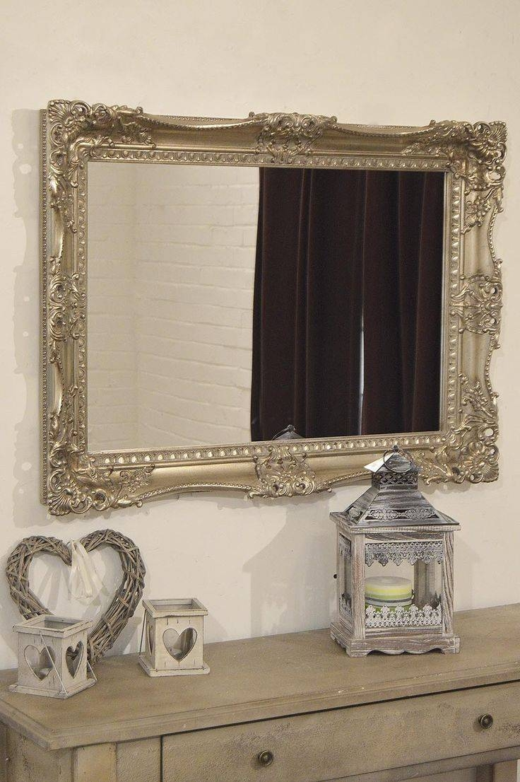 33 Best Mirrors Images On Pinterest | Wall Mirrors, Antique Silver pertaining to Silver Ornate Mirrors (Image 4 of 15)