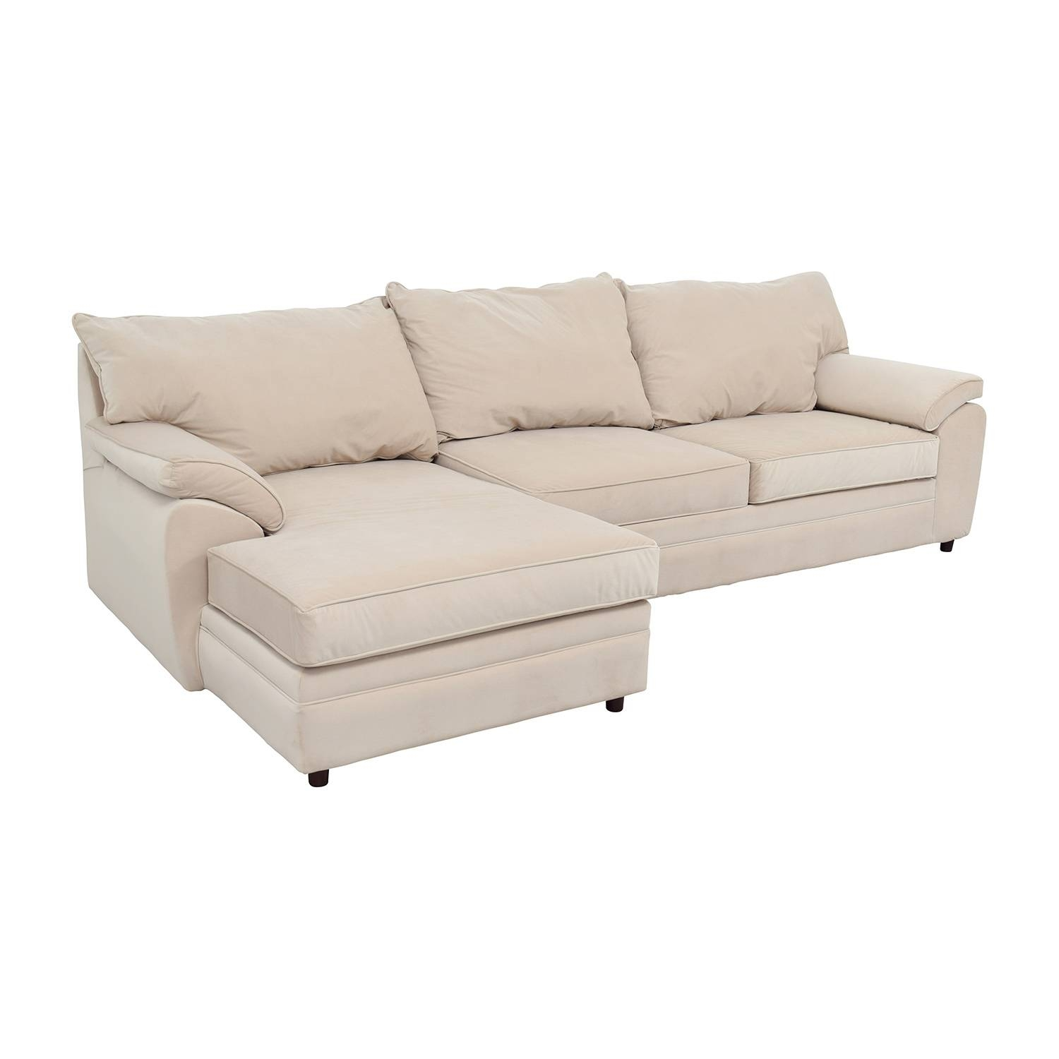 33% Off   Bob's Furniture Bob Furniture Off White Right Chaise Within Cindy Crawford Metropolis Sofas (Photo 13 of 15)