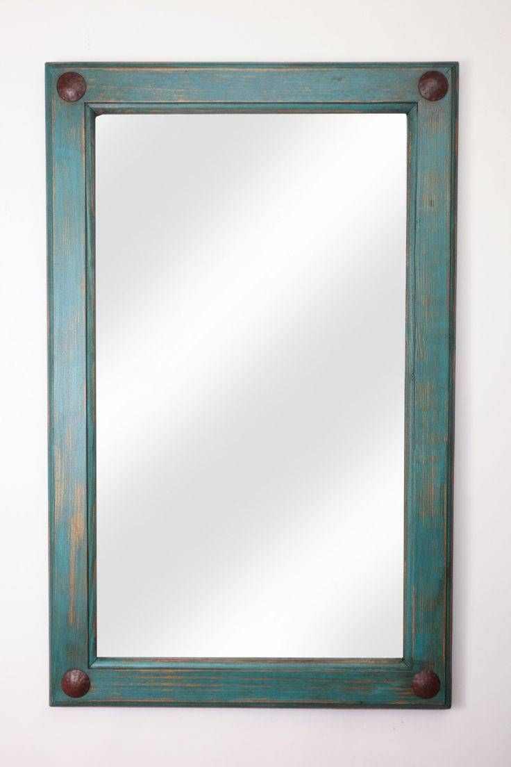 332 Best Rustic Mirrors Images On Pinterest | Rustic Mirrors Inside Blue Distressed Mirrors (Photo 15 of 15)