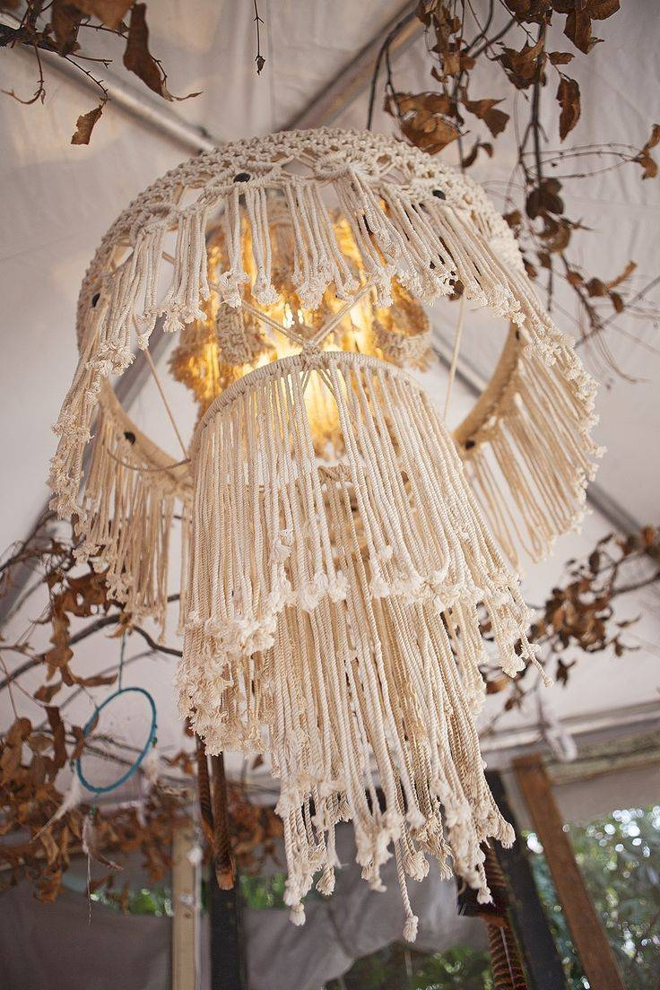 336 Best Macrame' Images On Pinterest | Macrame Wall Hangings inside Macrame Pendant Lights (Image 1 of 15)
