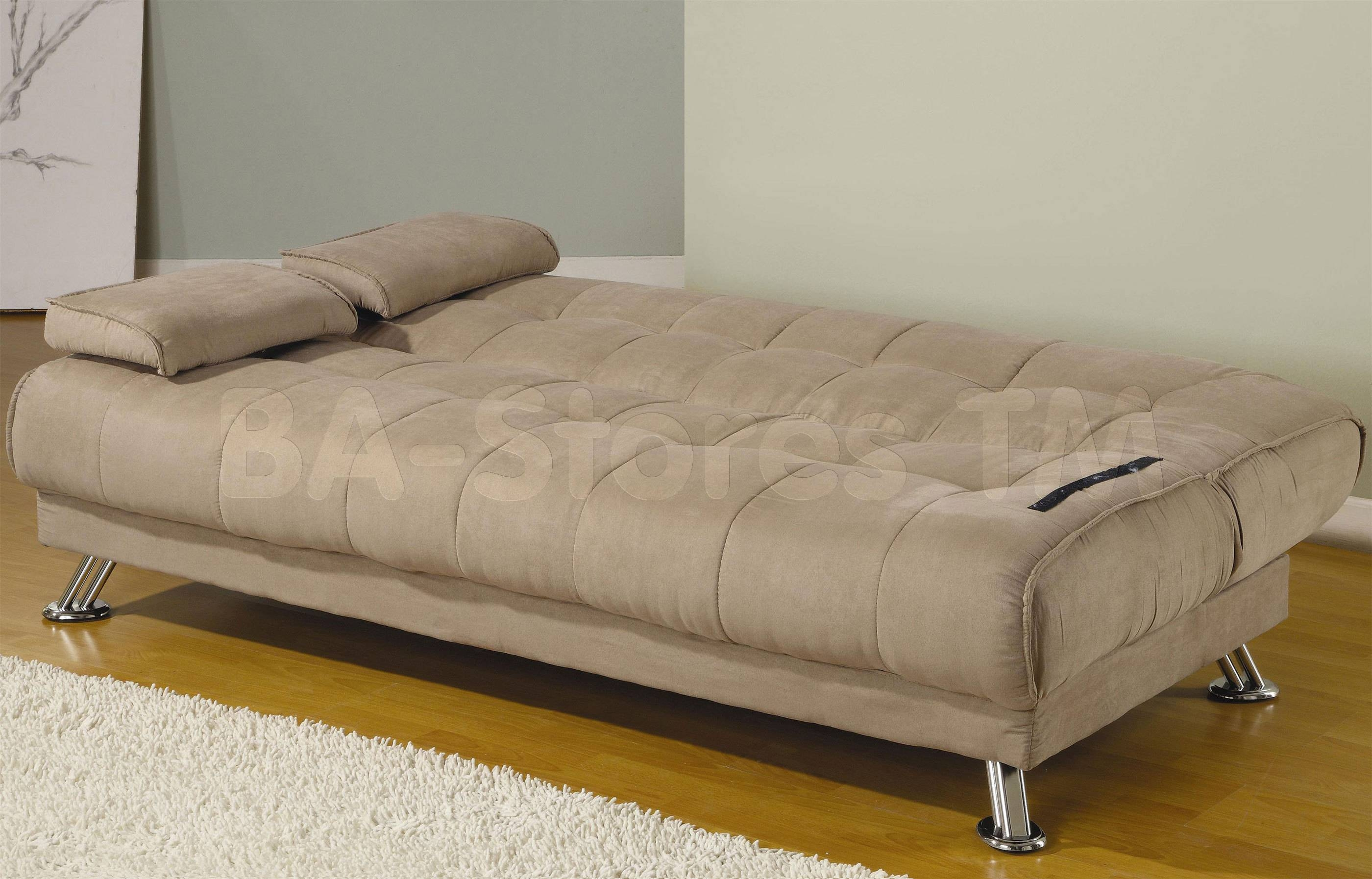 $346.45 Beige Microfiber Convertible Sofa Bed With Removable for Coaster Futon Sofa Beds (Image 1 of 15)