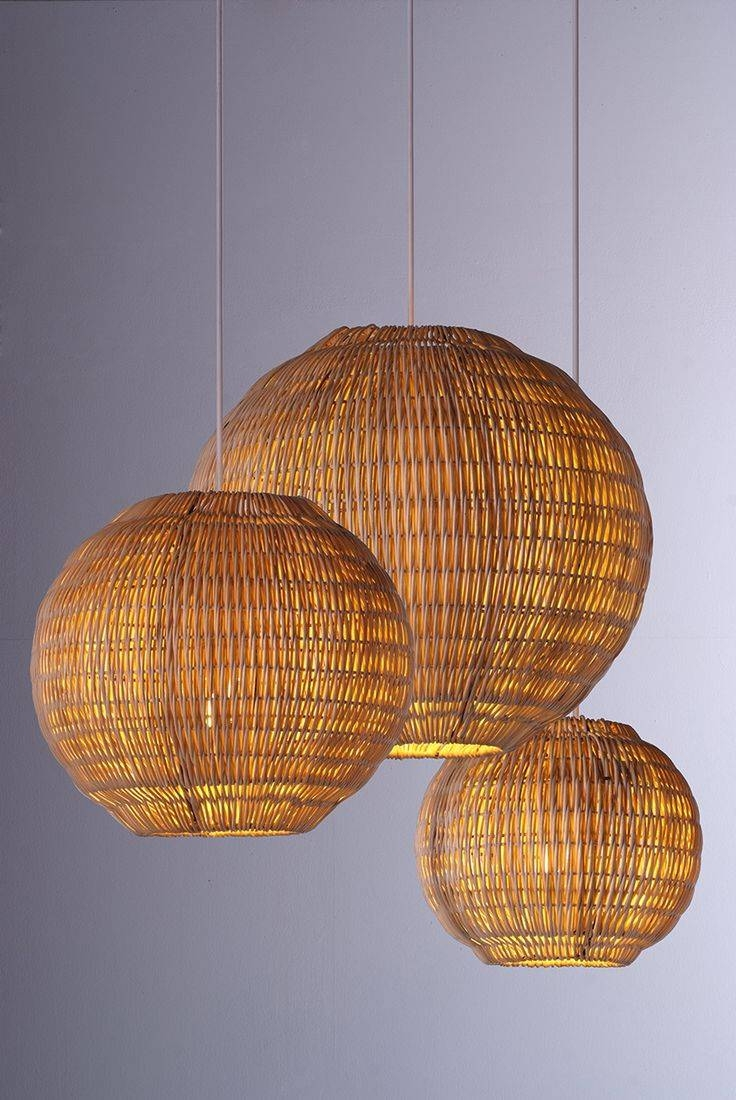 389 Best Rattan, Wicker & Bamboo Shades Images On Pinterest With Regard To Rattan Lights Fixtures (Photo 9 of 15)