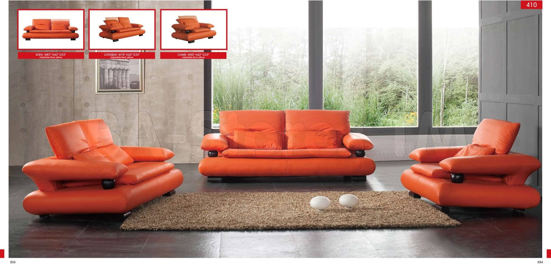 410 Sofa - $1,600.00 : Furniture Store Shipped Free In Usa, Nyc with regard to Orange Sofa Chairs (Image 3 of 15)