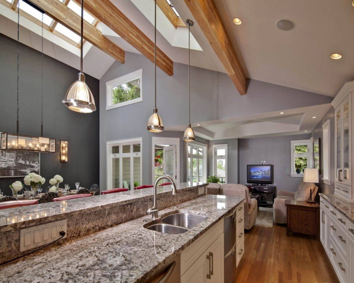 42 Kitchens With Vaulted Ceilings - Home Stratosphere with Pendant Lights For Vaulted Ceilings (Image 1 of 15)