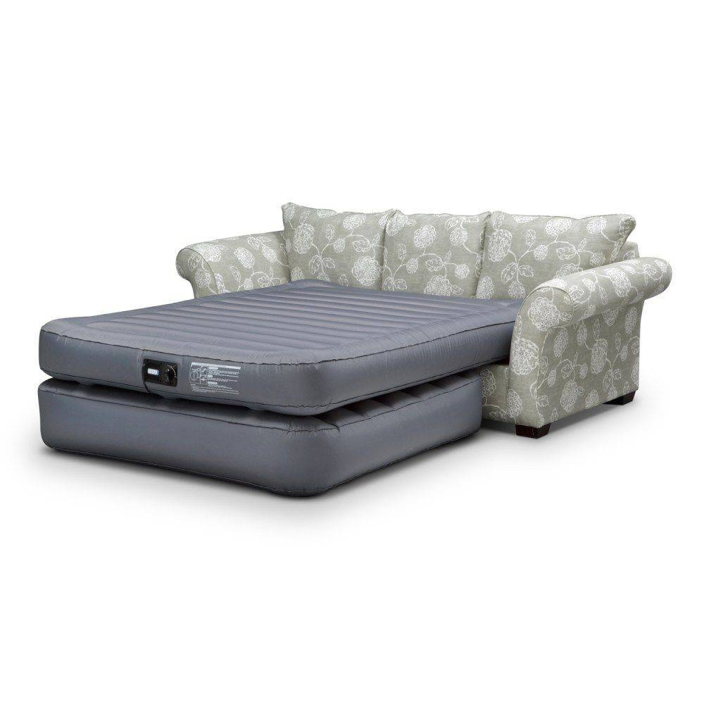 5 In 1 Inflatable Velvet Air Sofa Bed Makequickshpooing 25 Best Regarding Inflatable Sofa Beds Mattress (View 1 of 15)