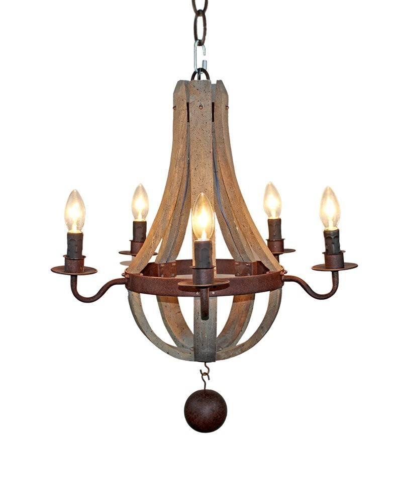 5 Lights Wooden Pendant Light In Flask Shape   Parrotuncle Within Wooden Pendant Lights (Photo 5 of 15)