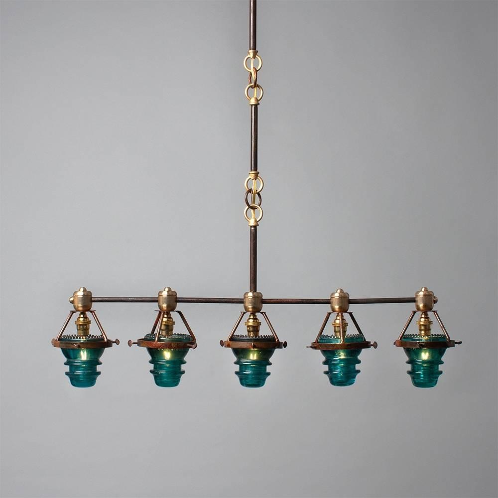 5 Telegraph Pendant Bar - Relish Decor pertaining to Insulator Pendant Lights (Image 2 of 15)