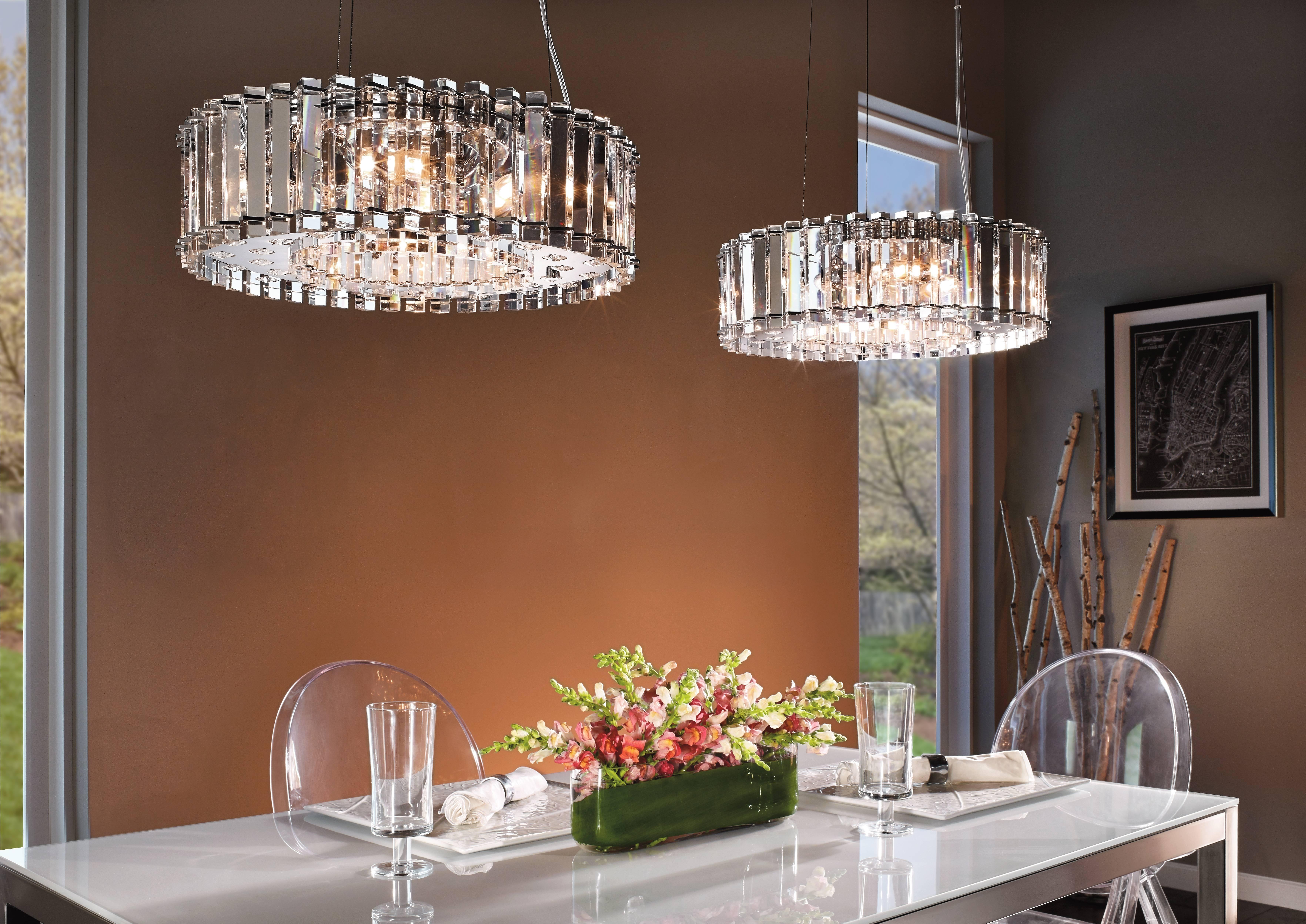 5 Tips For Perfect Dining Room Lighting   Lando Lighting Regarding Pendant Lighting With Matching Chandeliers (Photo 13 of 15)