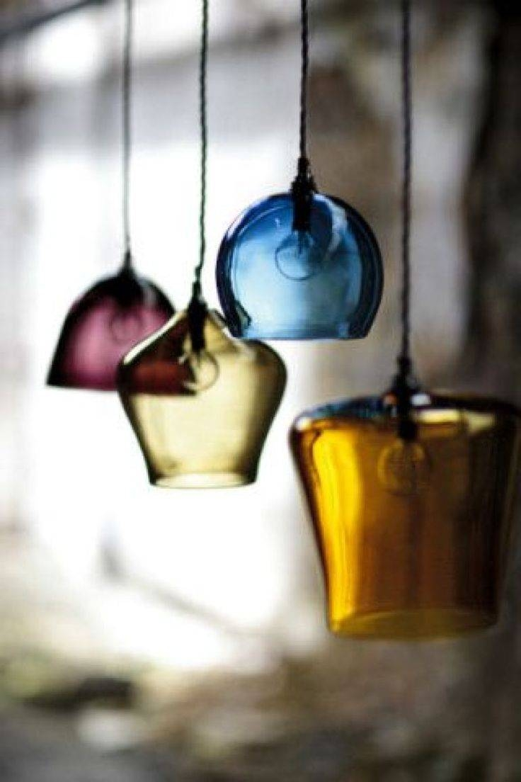 58 Best Lumière - Lights - Licht Images On Pinterest | Lighting for Coloured Glass Pendants (Image 3 of 15)