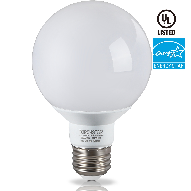 5W G25 Globe Led Light Bulb Energy Star, Damp Location Available In Damp Location Pendant Lighting (Photo 15 of 15)