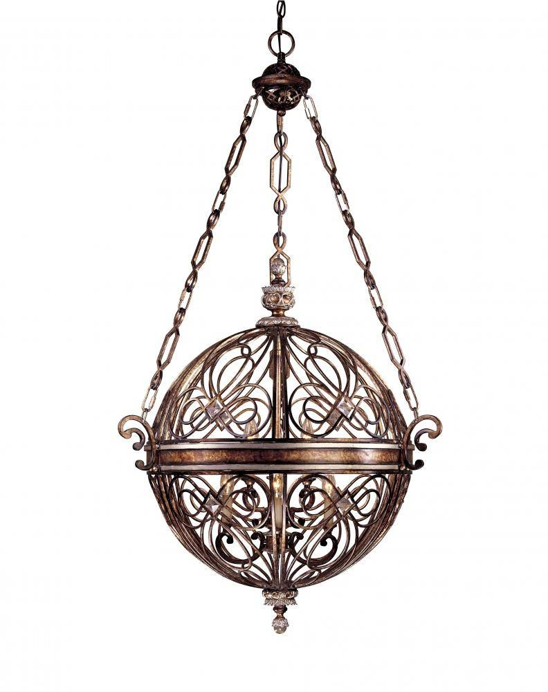 6 Light Ball Pendant : 1744-206 | Bright City Lights intended for Minka Lavery Pendants (Image 1 of 15)