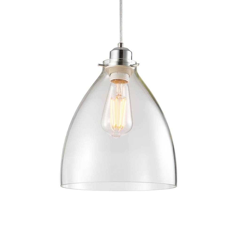 60874 Elstow 1 Light Chrome/glass Non Electric Pendant within Non Electric Pendant Ceiling Lights (Image 3 of 15)