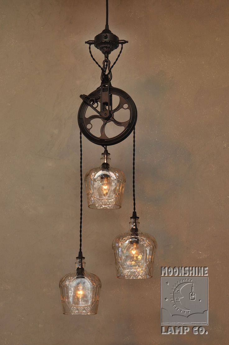 61 Best Lights Images On Pinterest | Chandeliers, Glass Pendants inside Pulley Lights Fixture (Image 2 of 15)