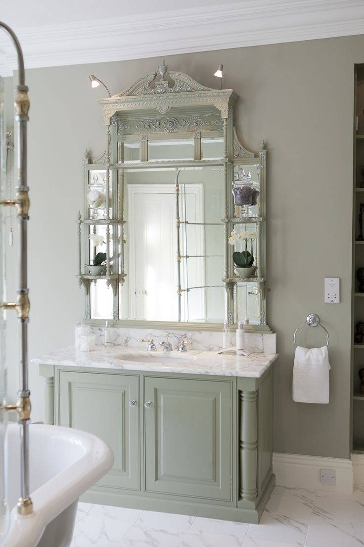 697 Best Bathrooms Images On Pinterest | Bathroom Ideas, Room And with French Bathroom Mirrors (Image 1 of 15)