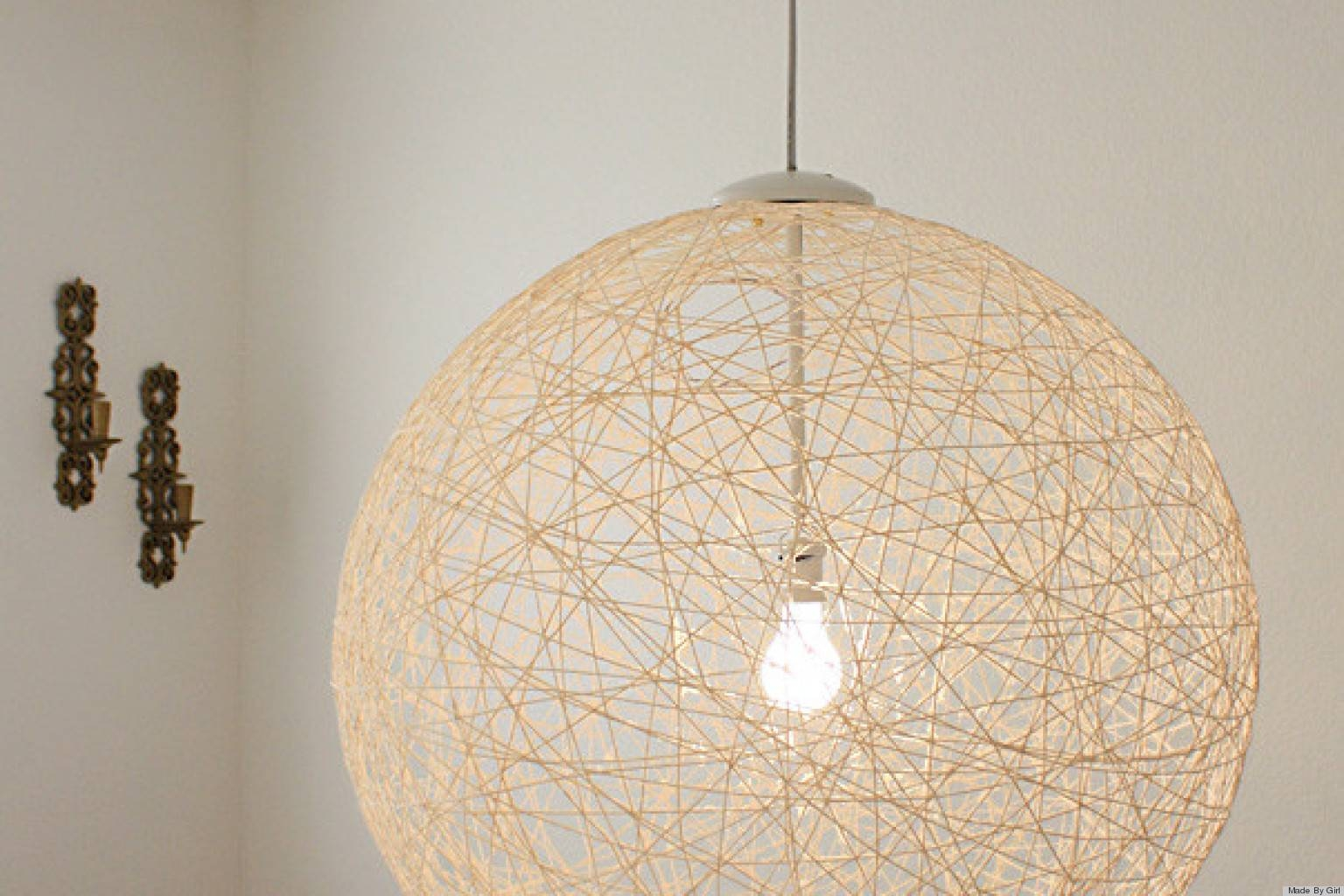 7 Diy Lighting Fixtures That You Won't Even Believe You Can Make Inside Diy Yarn Pendant Lights (Photo 14 of 15)