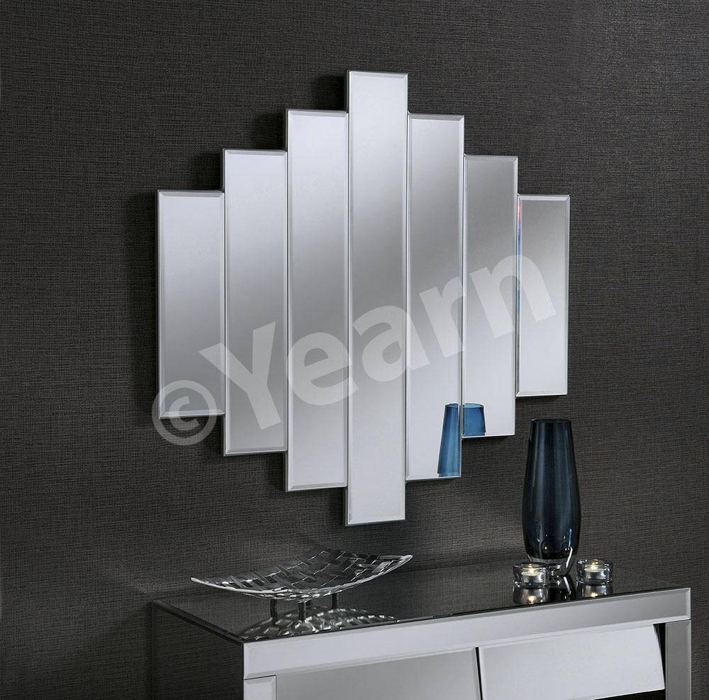7 Panel Stepped Frameless Mirror With Bevelled Glass   £260.00 In Art Deco Frameless Mirrors (Photo 6 of 15)