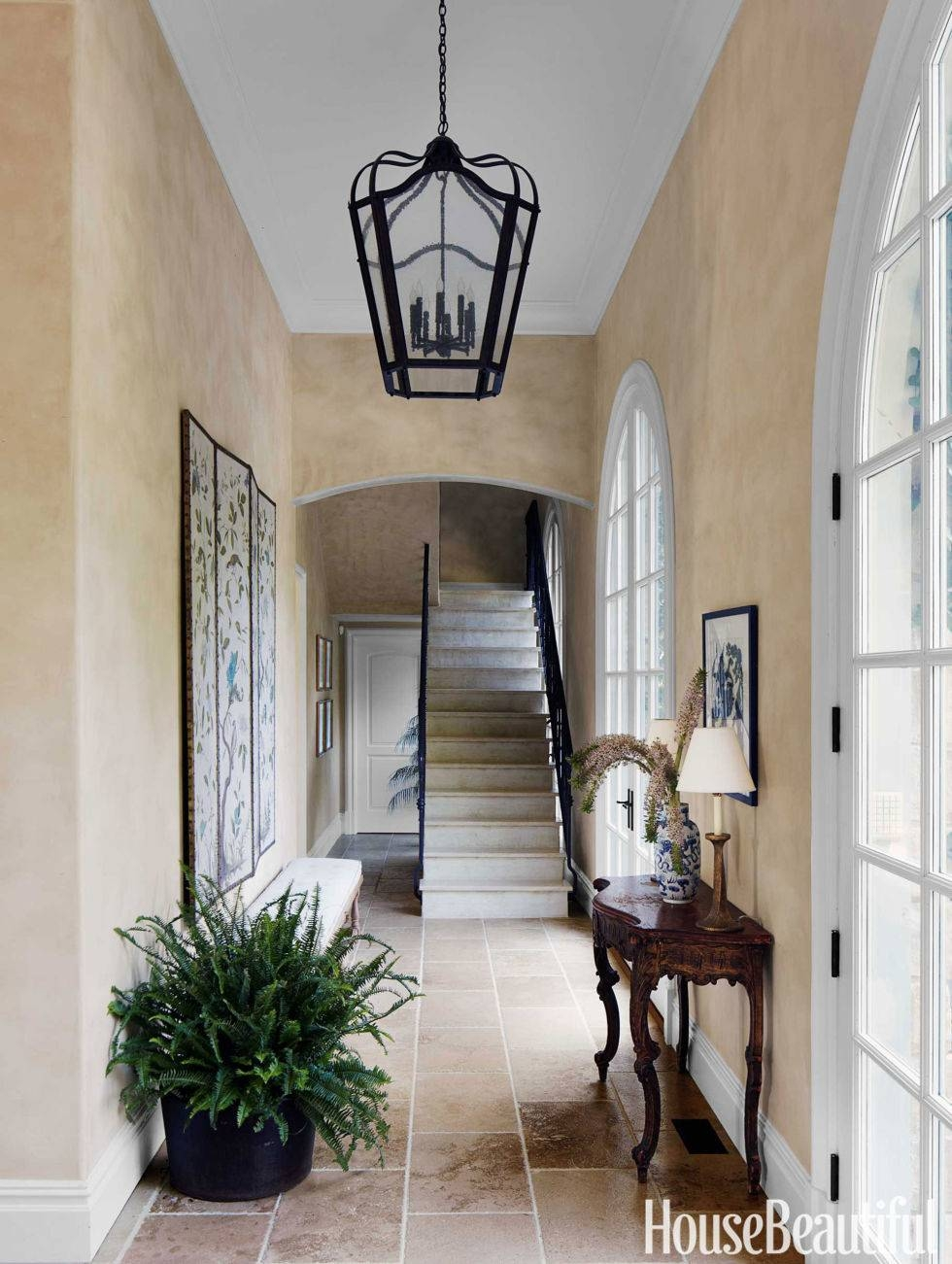70+ Foyer Decorating Ideas - Design Pictures Of Foyers - House regarding Entry Hall Pendant Lighting (Image 3 of 15)